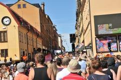 Pride Parade alegre 2013 em Éstocolmo Imagem de Stock Royalty Free