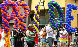 Pride Parade Balloons Stock Image