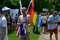 Pride Parade Fayetteville AR 2016 Stock Foto's