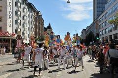 Pride Parade gai 2013 à Stockholm Photos stock