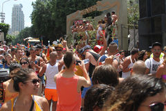 Pride Parade i Tel Aviv 2013 Arkivfoto