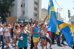 Pride Parade i Tel Aviv 2013 Arkivbilder