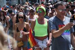 Pride Parade i Tel Aviv 2013 Arkivbild