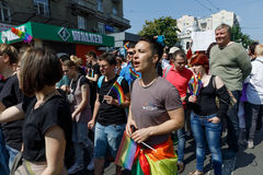 Pride Parade In Kiev Royalty-vrije Stock Foto
