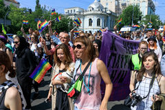 Pride Parade In Kiev Stock Foto