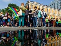 Pride Parade In Kiev Royalty-vrije Stock Afbeelding