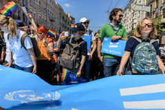 Pride Parade In Kiev Stock Fotografie