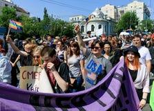 Pride Parade In Kiev Royalty-vrije Stock Afbeeldingen