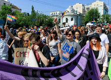 Pride Parade In Kiev Royalty Free Stock Images