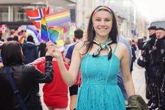 Pride Parade 2015 le 20 juin 2015 à Riga, Lettonie Image stock