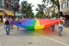 Pride Parade in Madison, Wisconsin Stock Photo