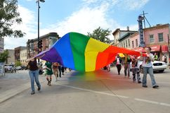 Pride Parade in Madison, Wisconsin Stock Photography