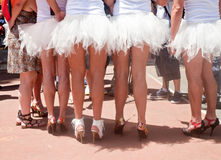 Pride Parade participants dressed up as balley dancers Royalty Free Stock Photo