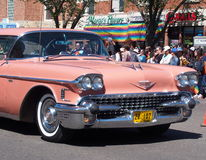 Pride Parade With Pink Cadillac Stock Photography