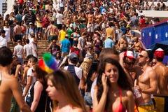 Pride Parade Tel-Aviv alegre 2013 Imagem de Stock Royalty Free