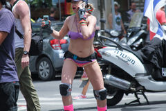 Pride Parade in Tel Aviv 2013 Stock Image