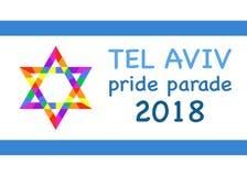 Pride Parade, Tel Aviv 2018 L'arcobaleno colora la struttura Colore dell'illustrazione di vettore multi fondo isolato o bianco royalty illustrazione gratis