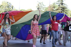 Pride. People against phobia, gay pride in Sofia stock photography