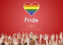 Pride Rights Transsexual Transgender Equality genusbegrepp royaltyfria bilder