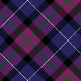 Pride of scotland tartan fabric diagonal texture seamless pattern. Vector illustration. EPS 10. No transparency. No gradients Stock Photos