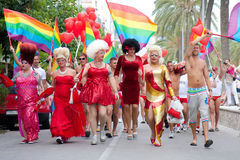 Pride in Sitges, Spain Stock Photos