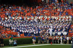 Pride of the Sunshine Fla. v. Kentucky. Pride of the Sunshine UF Marching Band before the FL. v Kentucky Game at The Swamp, Gator Country. University of Florida Royalty Free Stock Images