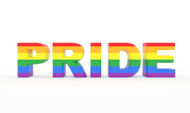 Pride Text com cores da bandeira do orgulho Fotografia de Stock
