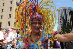 Pride 2014. TORONTO-JUNE 30: A drag queen during the Pride Parade on June 30, 2013 in Toronto-Canada stock photos