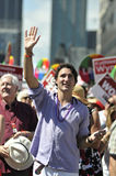 Pride 2014. TORONTO-JUNE 30: Justin Trudeau a popular Liberal leader during the Pride Parade on June 30, 2013 in Toronto-Canada royalty free stock photos