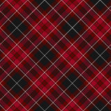 Pride of wales fabric diagonal textile red tartan seamless patte Royalty Free Stock Photo