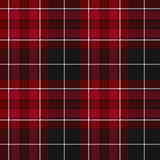 Pride of wales fabric texture red tartan seamless pattern Royalty Free Stock Photo
