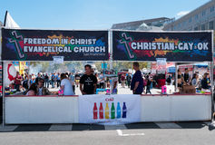 Pride weekend in San Francisco, Church accepting Gay marriage Stock Photography