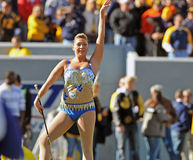 Pride of West Virginia twirler stock image