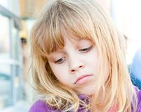 Prideful little blond girl Royalty Free Stock Photography