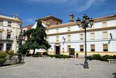 Priego de Cordoba town square. Stock Images