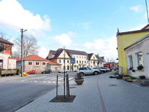 Priekule miasteczko, Lithuania Fotografia Royalty Free