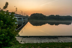 Prienai Bridge. Through river Nemunas Stock Photography