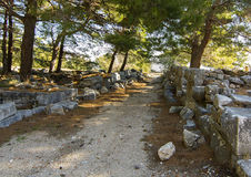 Priene ancient city stock images