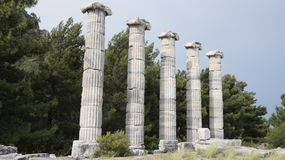 Priene the ancient Greek city. Priene, ancient city of Ionia about 6 miles 10 km north of the Menderes Maeander River and 10 miles 16 km inland from the Aegean stock photos