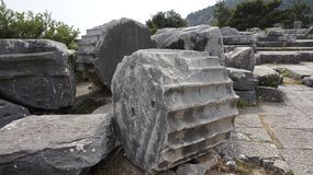 Priene the ancient Greek city. Priene, ancient city of Ionia about 6 miles 10 km north of the Menderes Maeander River and 10 miles 16 km inland from the Aegean stock images