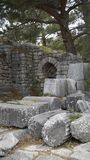 Priene the ancient Greek city. Priene, ancient city of Ionia about 6 miles 10 km north of the Menderes Maeander River and 10 miles 16 km inland from the Aegean stock photo