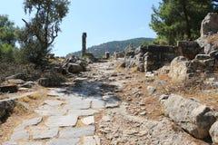 Priene ruins of an ancient antique city Stock Photos