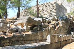 Priene ruins of an ancient antique city Royalty Free Stock Image