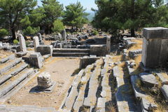 Priene ruins of an ancient antique city Royalty Free Stock Photo