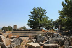 Priene ruins of an ancient antique city Royalty Free Stock Images