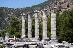 Priene ruins Stock Photography