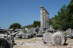 Priene temple Royalty Free Stock Photos