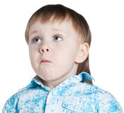 Prier de petit garçon Photo stock