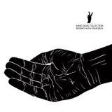 Prier la main, illustration détaillée de vecteur illustration libre de droits