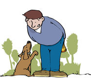 Prier le chien illustration stock